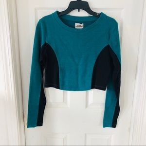 NWOT URBAN OUTFITTERS turquoise crop top SZ Large